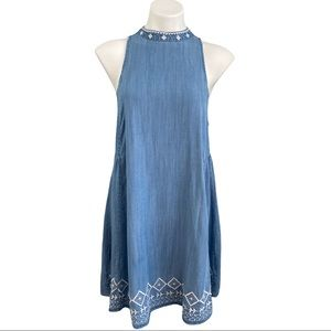Altar'd State Chambray Dress w/Embroidery Medium